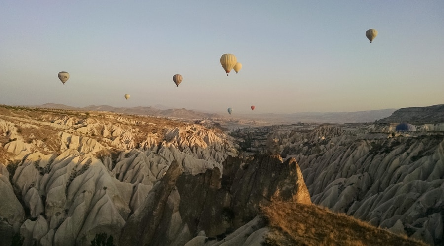 Aaron Stanush cover image - hot air ballooning in Cappadocia, Turkey