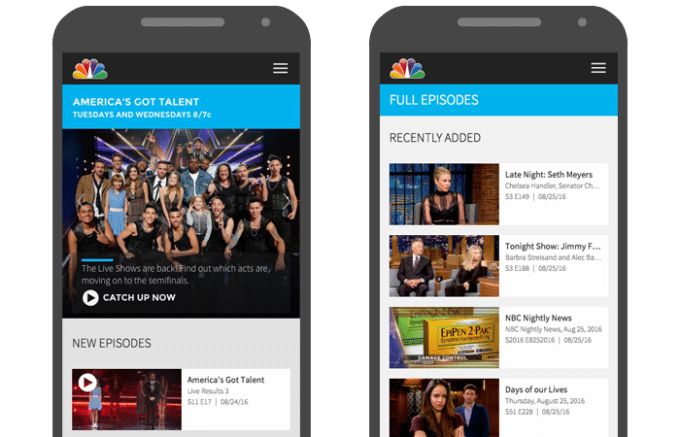 Case Study: NBC.com on mobile devices