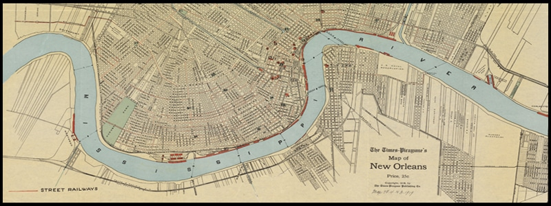 Map of New Orleans in 1919
