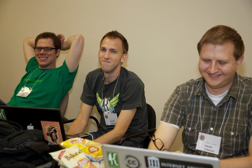 Todd, Aaron, and David at DrupalCamp Dallas 2009
