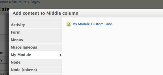 Creating Custom Panels Panes (and use substitution too