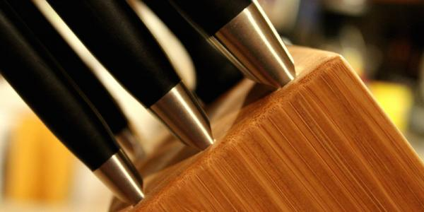 The titular knife block