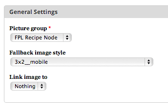 Configuration UI for Picture image formatter