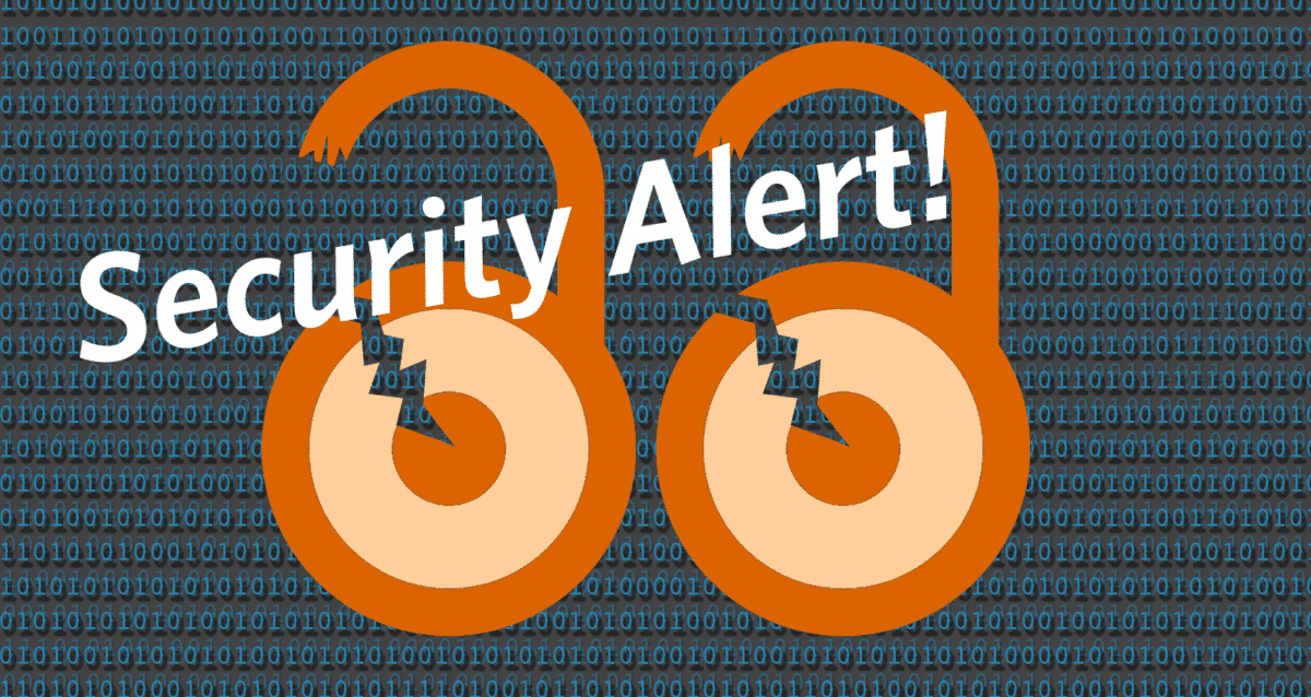 Security Alert banner image.