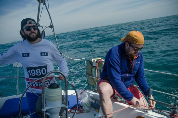 Picture of former Web Chefs sailing.