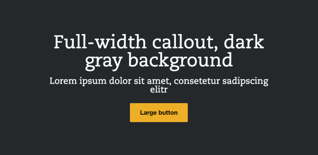 Emulsify dark background light text component variation
