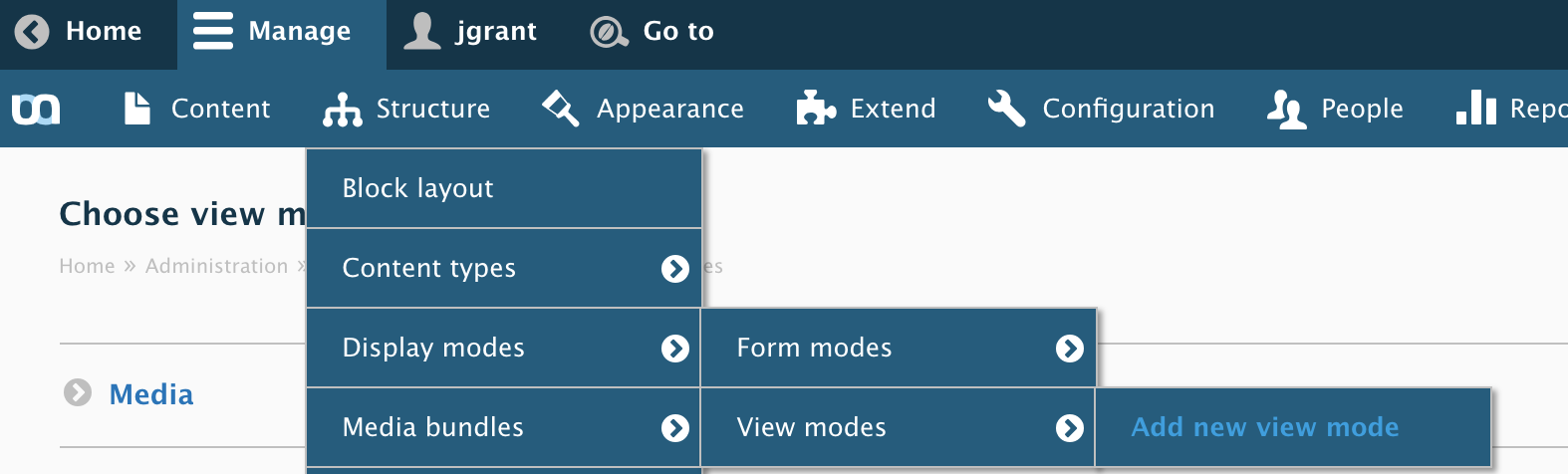 Emulsify - Manage display setting