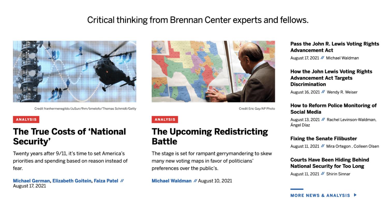 Brennan Center website